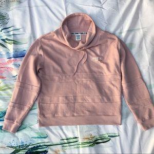 Vs pink blush pink cowl neck sweater rose gold